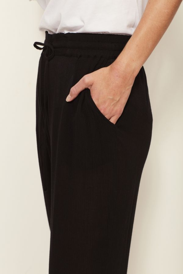 Black Crop Trouser