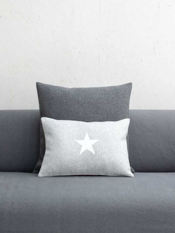 Silver & Grey Star Cushion