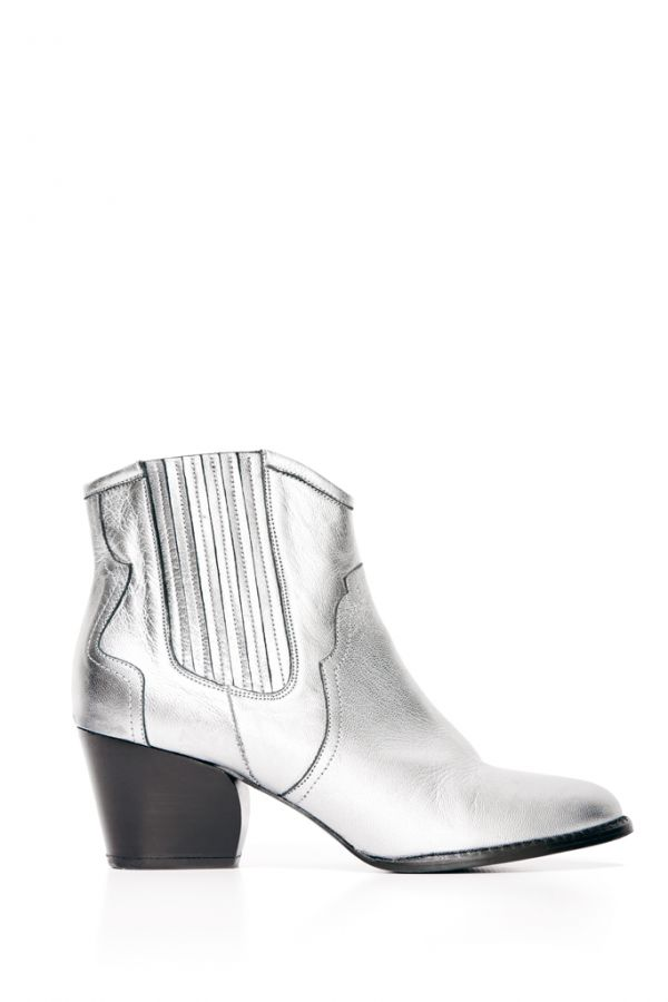 Silver Western Leather Boot