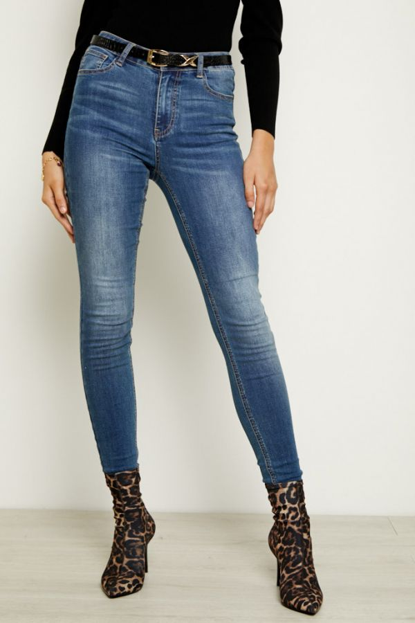 Grace Light Wash Organic Skinny Jean