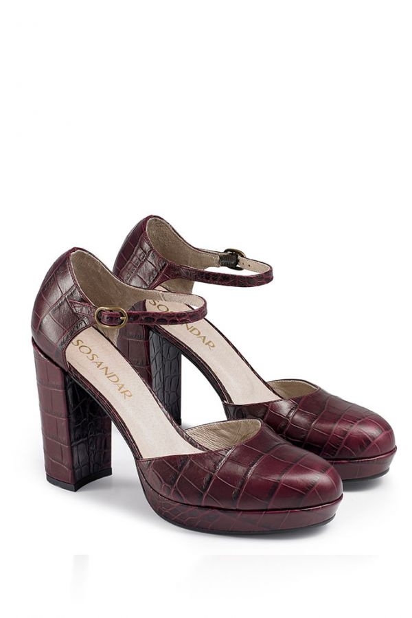 Mulberry Croc Leather Platform Shoe