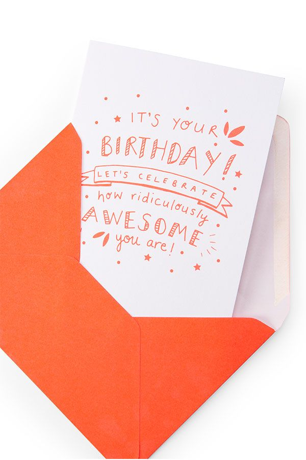 Birthday Card - Neon Awesome