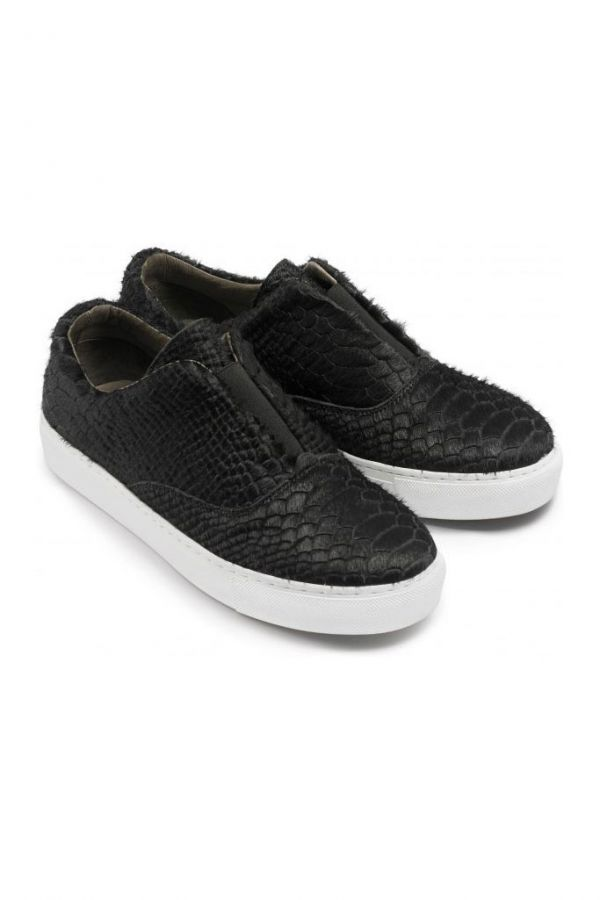 Pony Hair Slip On Trainer