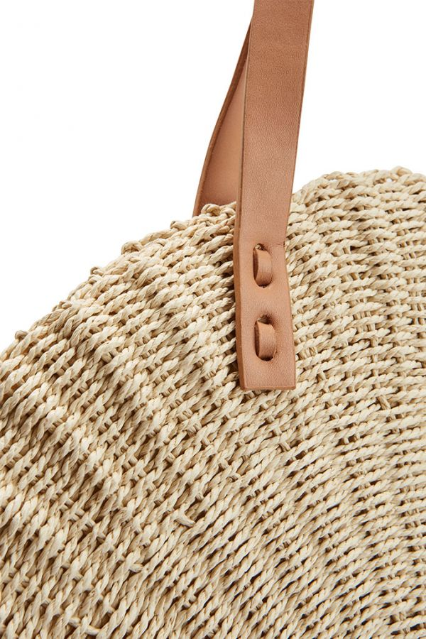 Large Round Woven Beach Bag