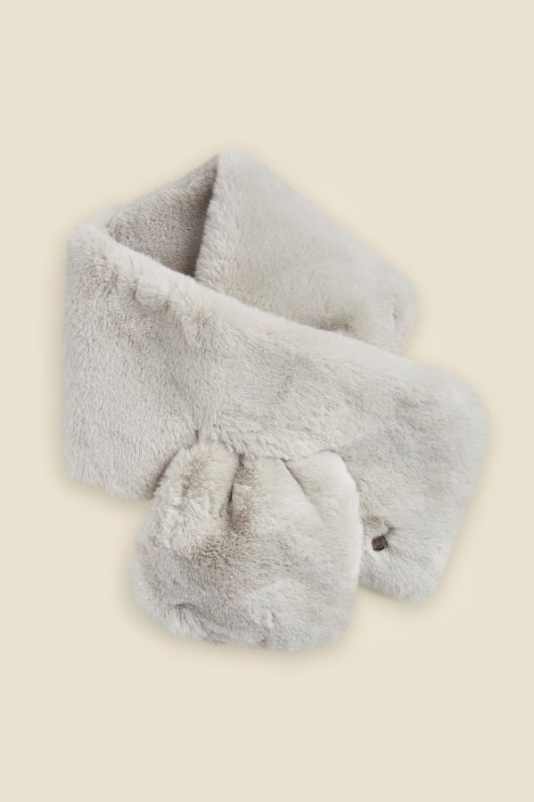 Light Grey Faux Fur Scarf