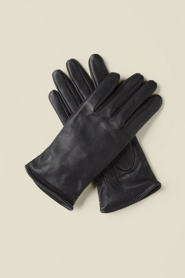 Black Luxe Leather Gloves