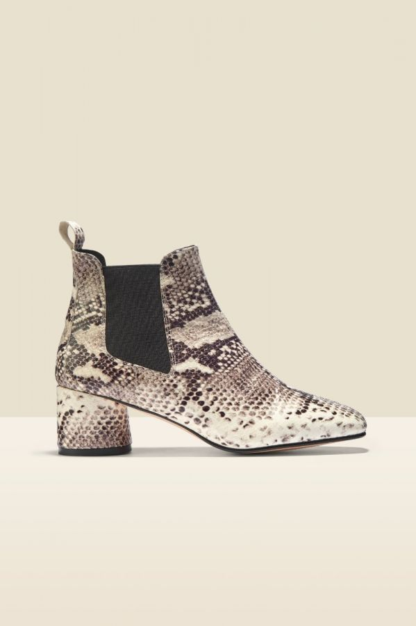 Antwerp Snake Leather Chelsea Boot