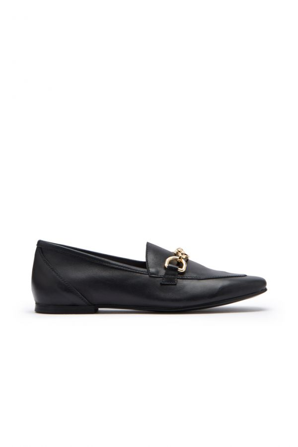 Saint Black Leather Loafer