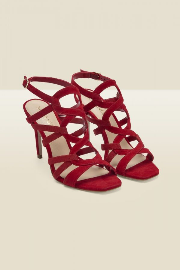 Neptune Red Suede Strappy Sandal