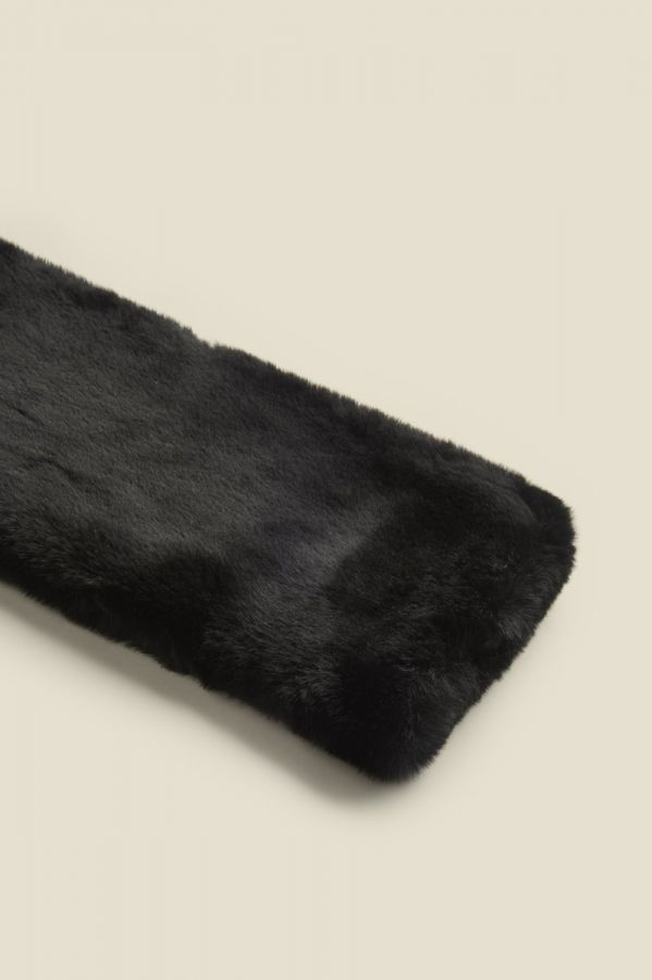 Black Faux Fur Neck Warmer