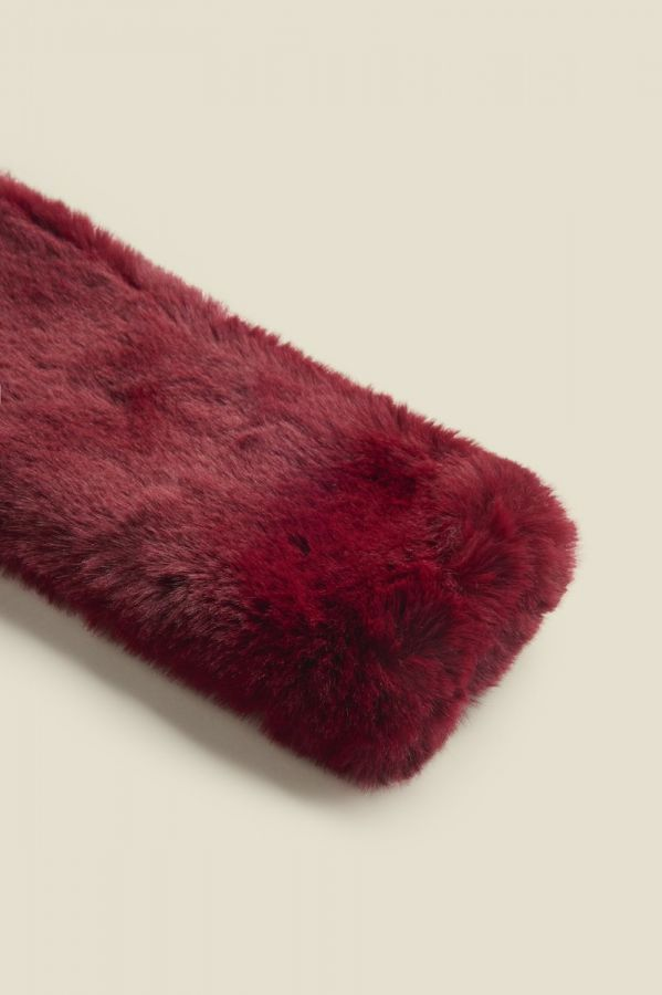 Burgundy Faux Fur Neck Warmer