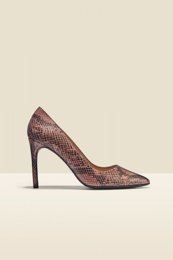 Cleo Snake Leather Court Shoe