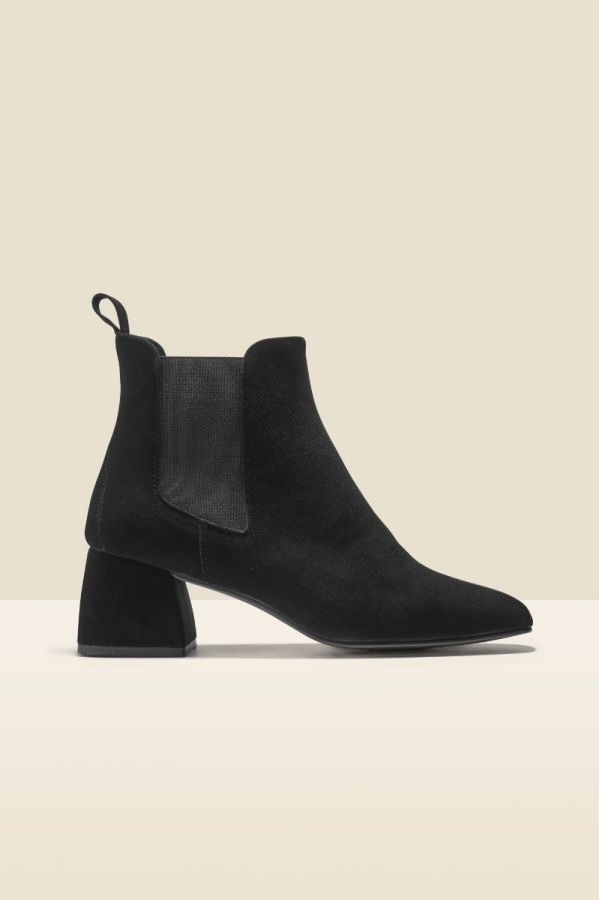 Ali Black Suede Ankle Boot