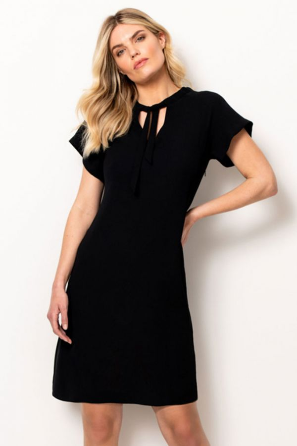 Black Sascha Shift Dress
