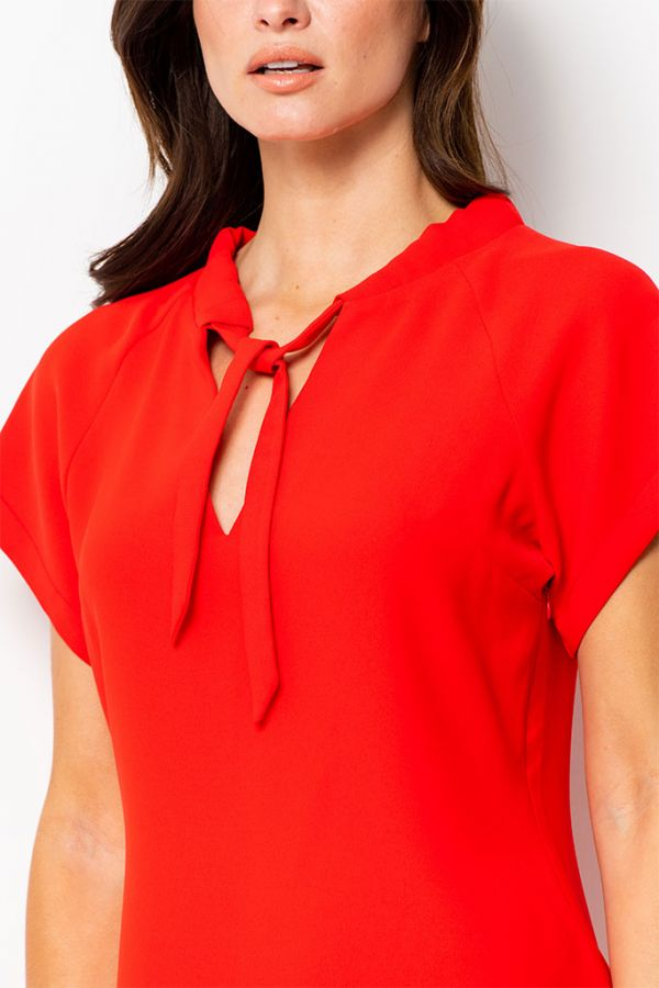 Red Sascha Shift Dress