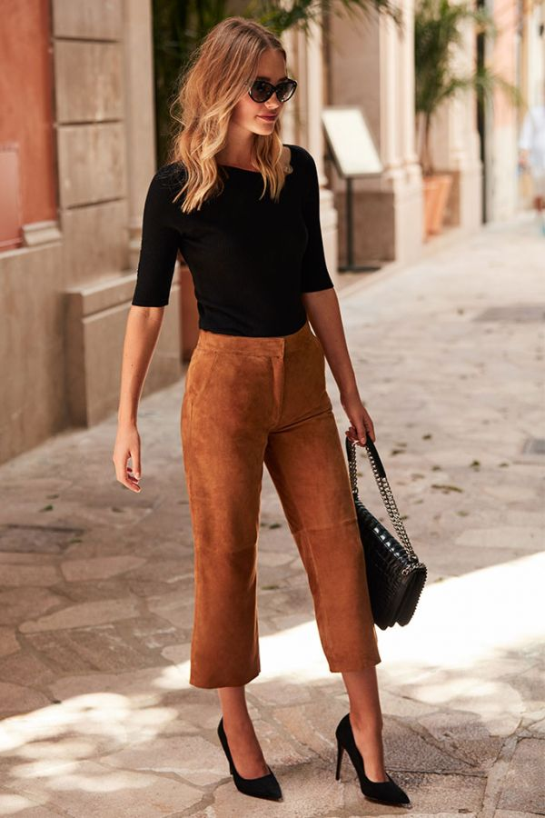 Tan Suede Trousers
