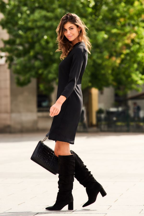 Black Cut Out Cross Top Shift Dress