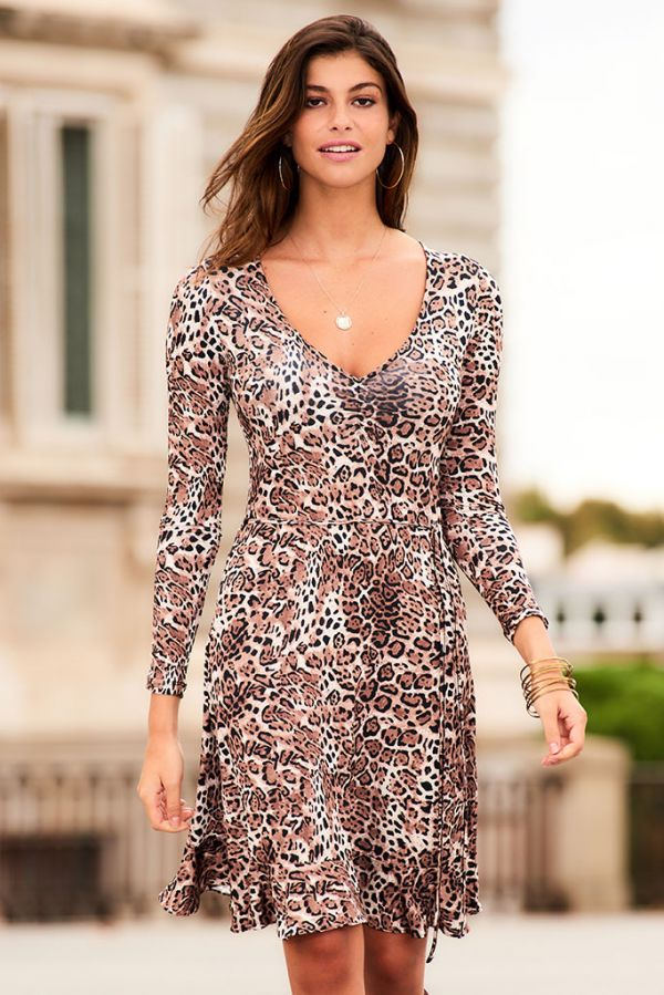 Leopard Print Slinky Dress