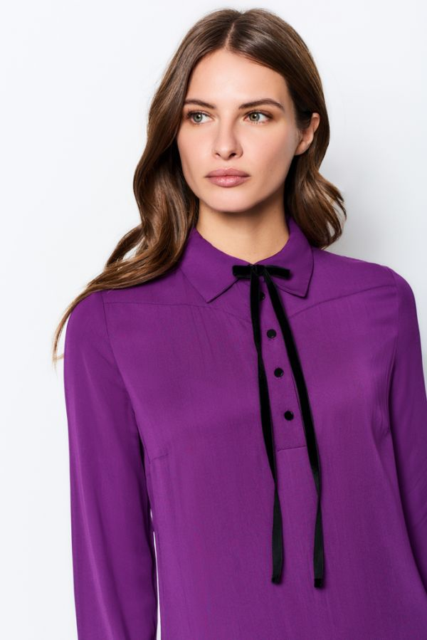 Amethyst Neck Tie Detail Dress