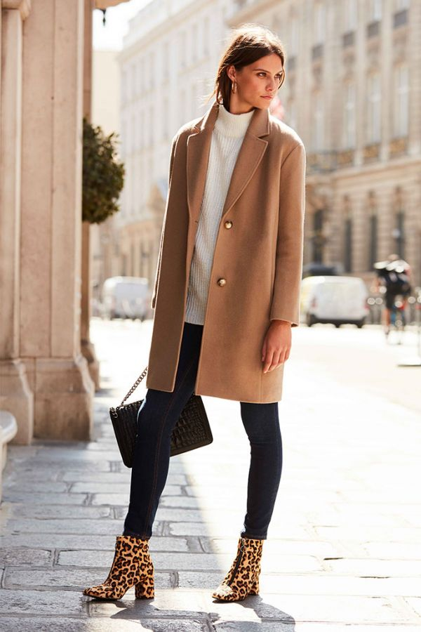 Camel Relaxed Fit Coat