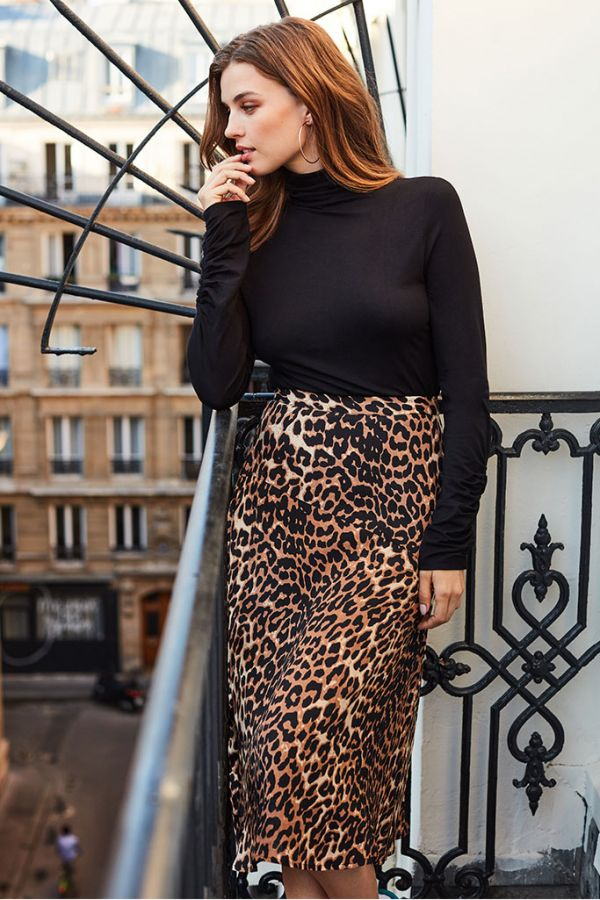 new & pre-owned designer dirt cheap many choices of Leopard Print A-Line Midi Skirt