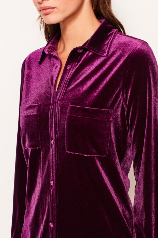 Mulberry Velvet Shirt