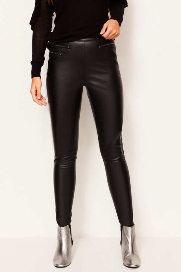 Black Leather Look Legging
