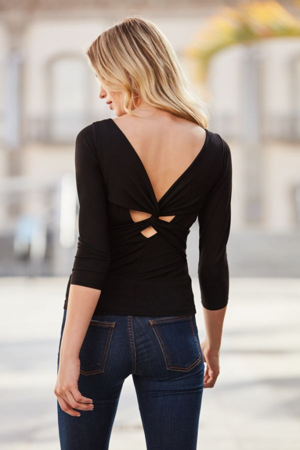 Black Knot Back Top