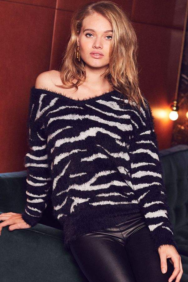 Zebra Fluffy Jumper