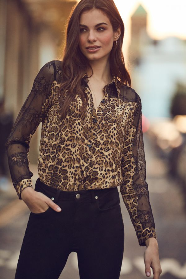Leopard & Lace Shirt