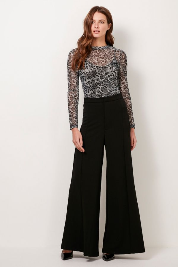 Black High Waist Palazzo Trousers