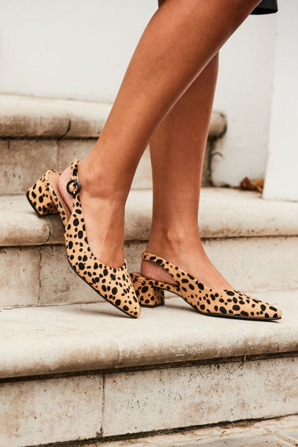 Glory Leopard Slingback Point Shoe