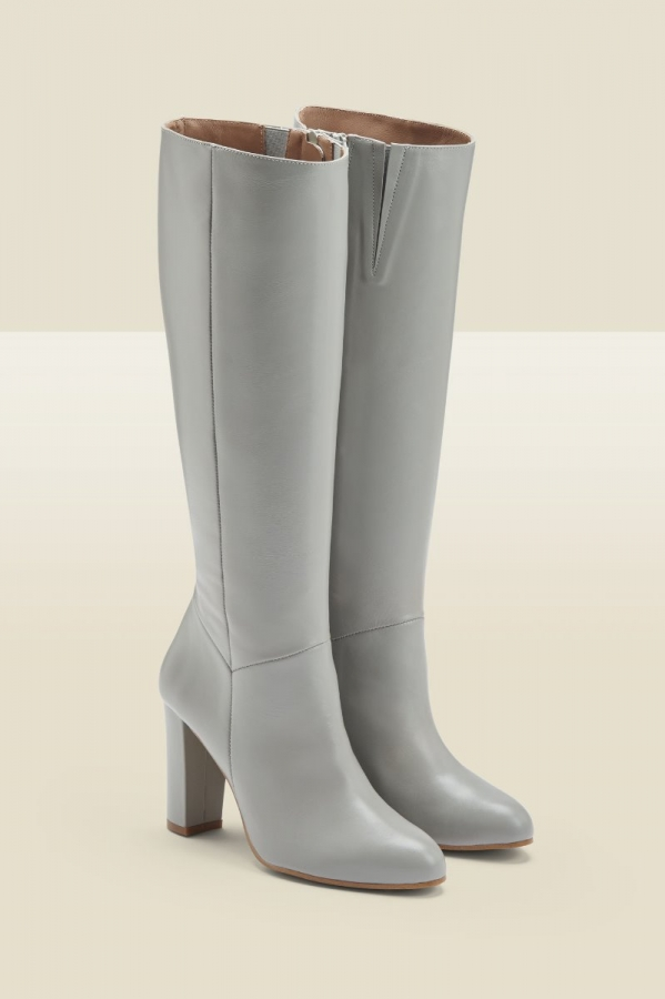 Blake Taupe Suede Zip Knee High Boot