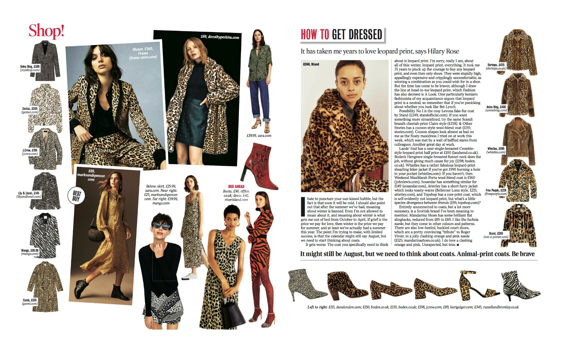 Leopard Print Coat featured in The Times