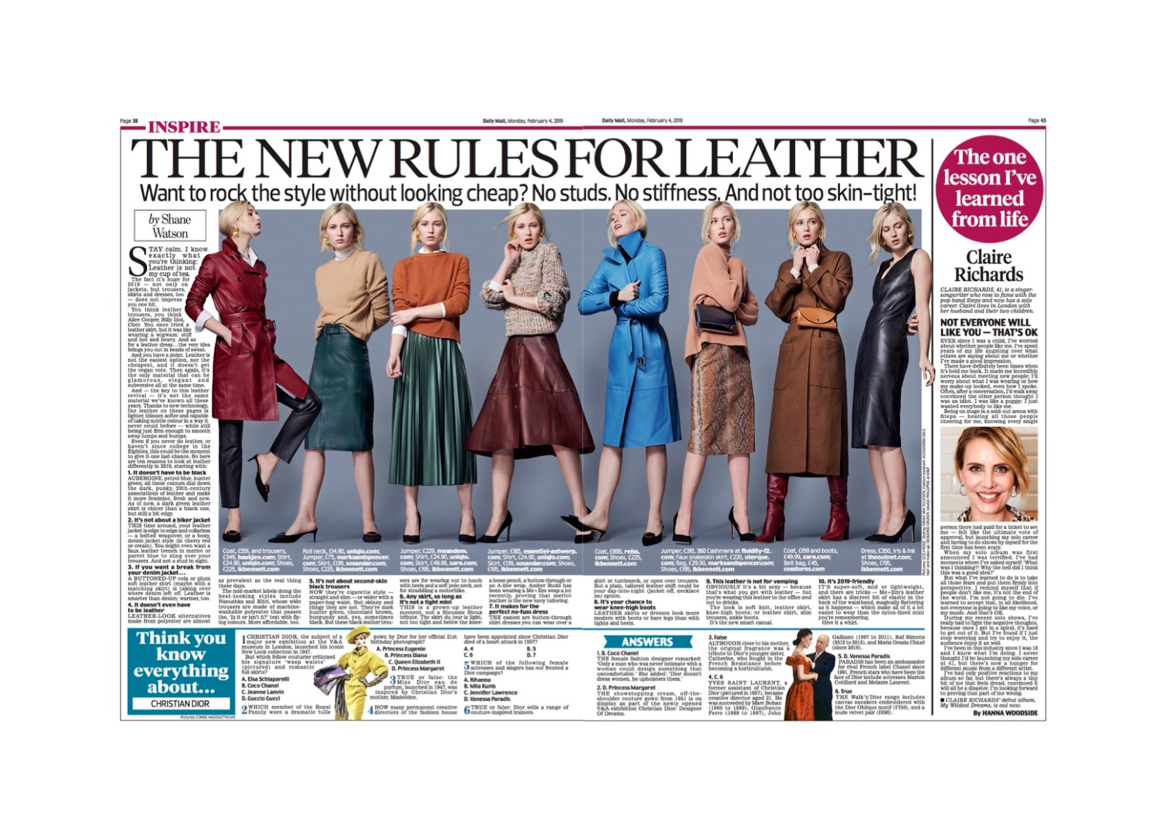 Sosandar Leather Skirts Featured In The Daily Mail