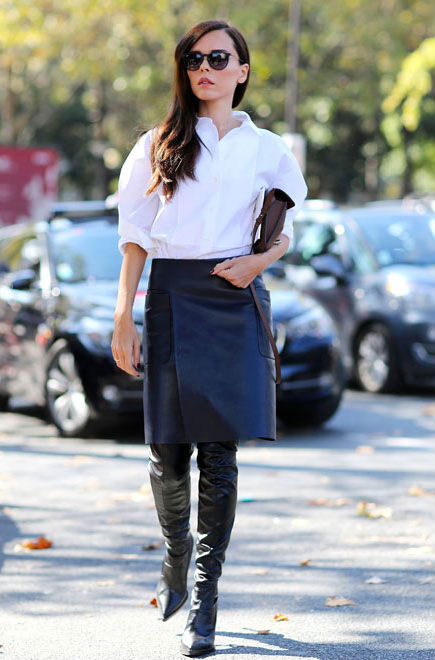 5 WAYS TO WEAR: THE LEATHER PENCIL SKIRT