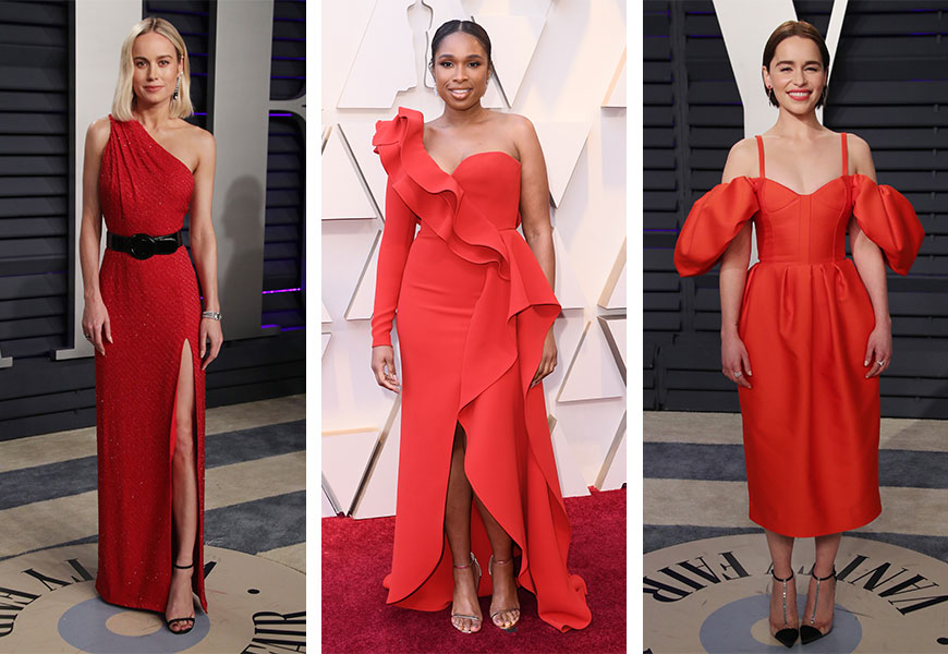 Celebs in red dresses